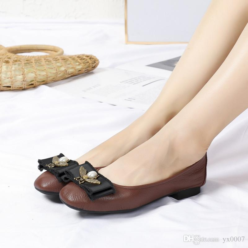 1f79758e6e4e !Fashion Brand Women Shoes Leather Ballerina Foldable Ballet Flats Portable  Travel Flat Pregnant Shoes Wl18110604 Leather Shoes Moccasins For Men From  ...