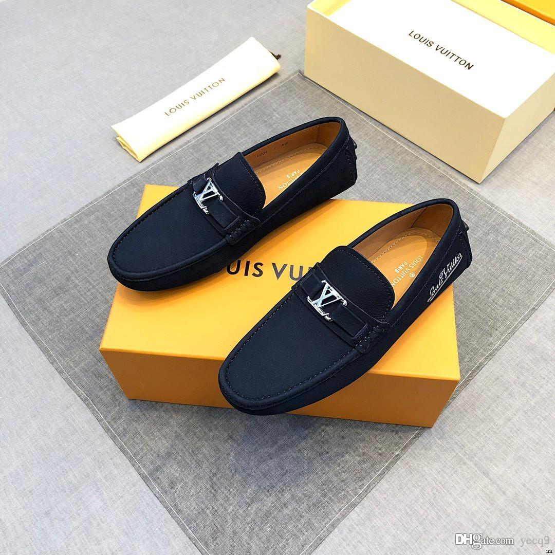 d012030962e56 Big Size 38~45 High Quality Genuine Leather Men Shoes Soft Moccasins Loafers  Fashion Brand Men Flats Comfy Driving Shoes Dansko Shoes Tennis Shoes From  ...