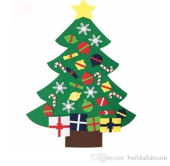 NEW Kids DIY Felt Christmas Tree Set With Ornaments Children Gift Toddler Door Wall Hanging Preschool Craft Xmas Decor SL6011 20180920 50th Birthday Party