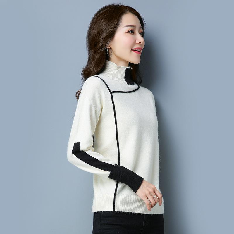af27d2a39f 2019 2018 Spring Autumn Elegant Knitted Sweaters Women Pullovers Winter  Turtleneck Loose Warm Plus Size Knit Female Sweater 0709 78 From Derrick83