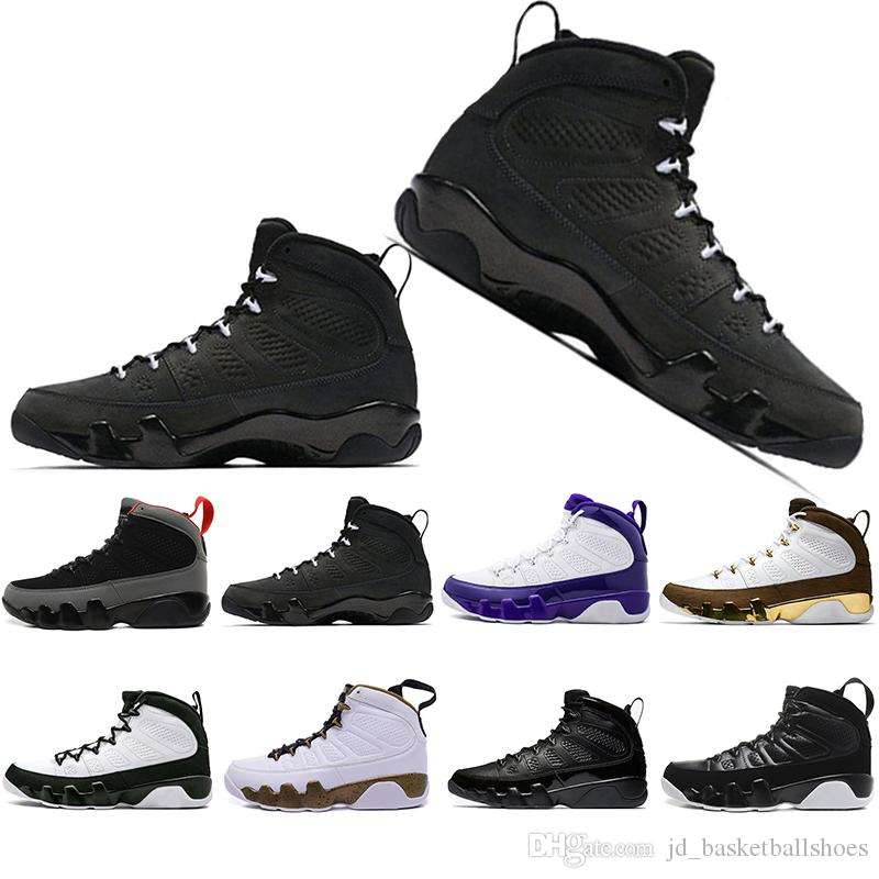 the best attitude a7af0 7dceb Free Shipping Mop Melo 9 9s mens basketball shoes LA Bred OG Space Jam Tour  Yellow PE The Spirit sports trainers Sneakers Shoes