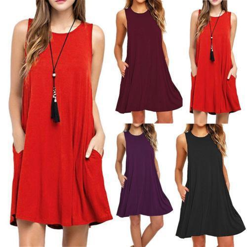 wholesale 2018 Cute Women Sexy Halter Neck Wedding Party Vestidos Sleeveless Racer Front A-Line Short Skater Dresses