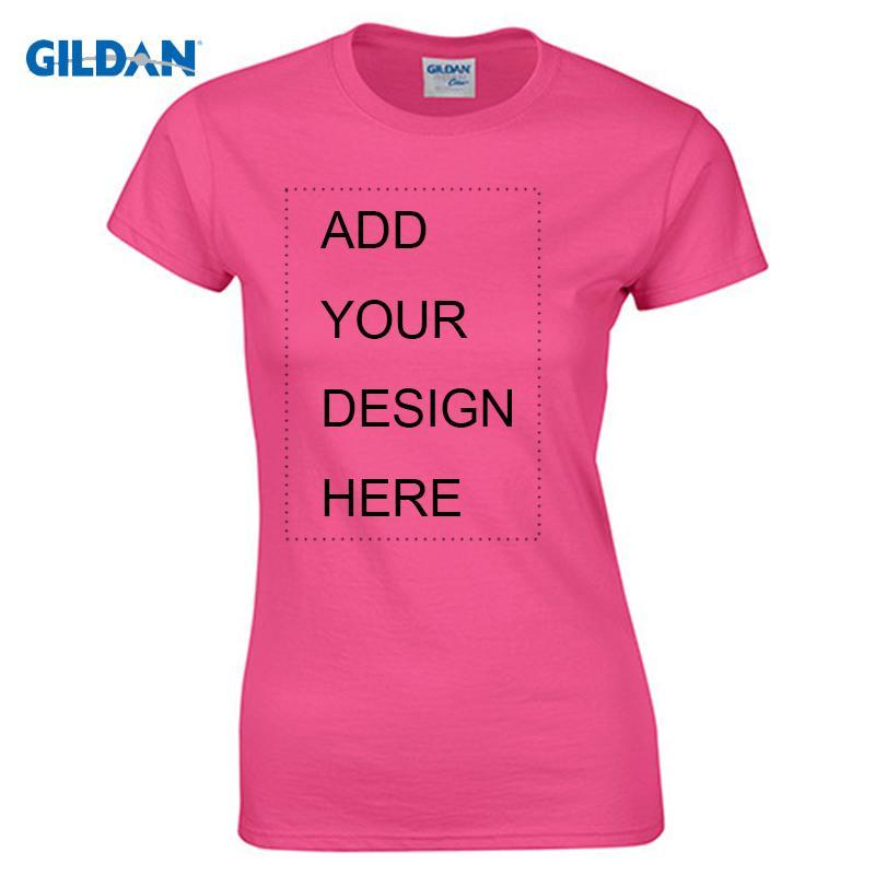 ce42605461e80 Compre Gildan Camiseta Personalizada Mujer Mujer Imprimir Su Propio Diseño  Tops De Alta Calidad Tees Enviar En 3 Días Más Tamaño S XL Y18122501 A   21.87 Del ...