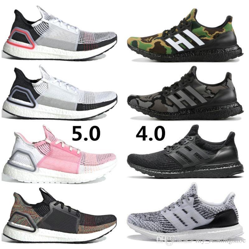 1e2f0705b Compre 2019 Nova Ultra Impulso 4.0 Camo Ultraboost 5.0 Branco Rosa Claro  Marrom Running Shoes Homens Mulheres UB Formadores Esportes Tênis  Esportivos De ...