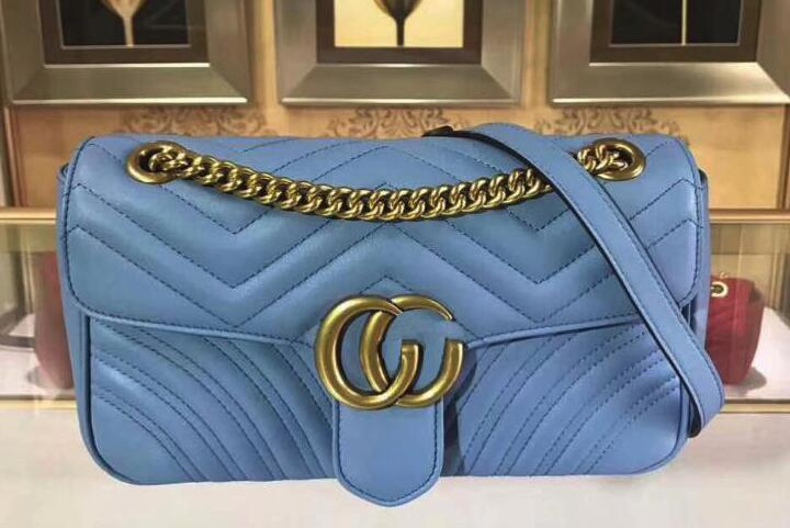 4af73fca70c90a 2019 Quality 443497 26cm Marmont Leather Shoulder Bag,Antique Gold Toned  Hardware,Flap Spring Closure,With Box Dust Bag Handbags For Women Mens  Messenger ...