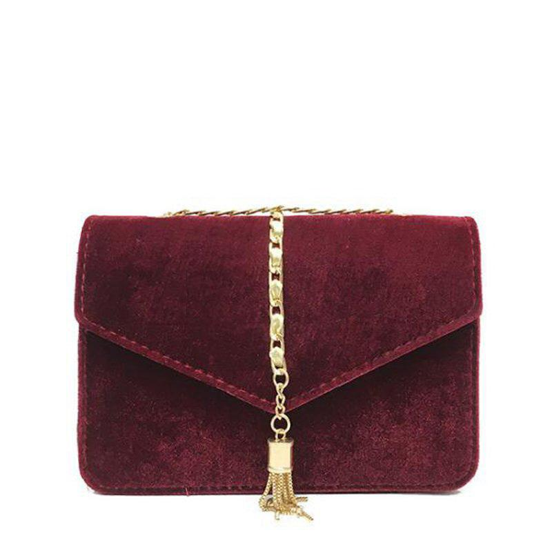 ec44399b5f Gold Velvet Crossbody Bag Women Elegant Long Chain Shoulder Bag Autumn  Winter Messenger Bags Female Tote Vintage Handbag Pp 1088 Bags For Women  Cheap ...