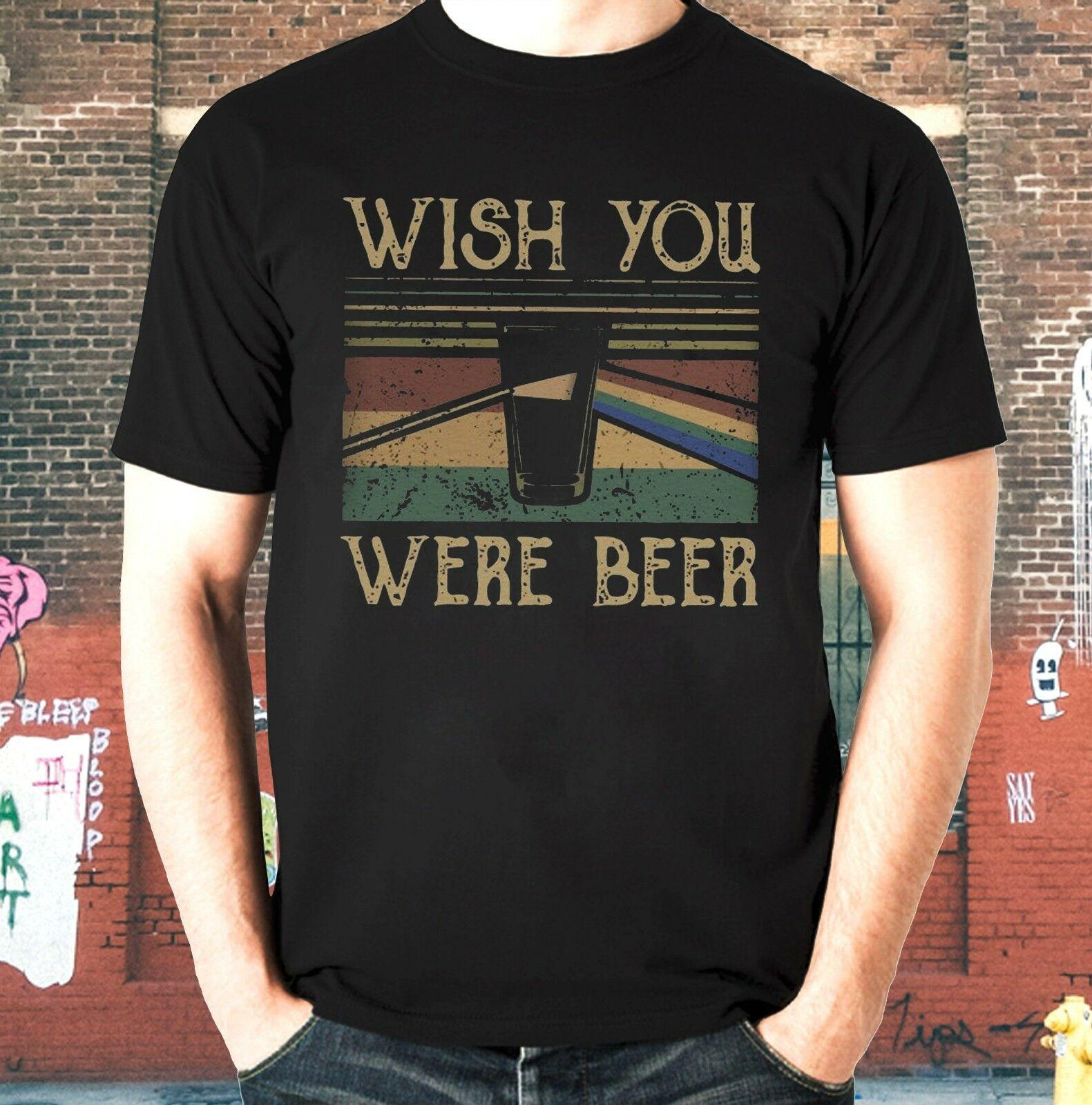 a41d865c26fc Retro Wish You Were Beer Pink Floyd T Shirt Unisex Heavy Cotton Tee Funny  Unisex Tshirt Shirts Designer Designer White T Shirts From Stylemixxuk, ...