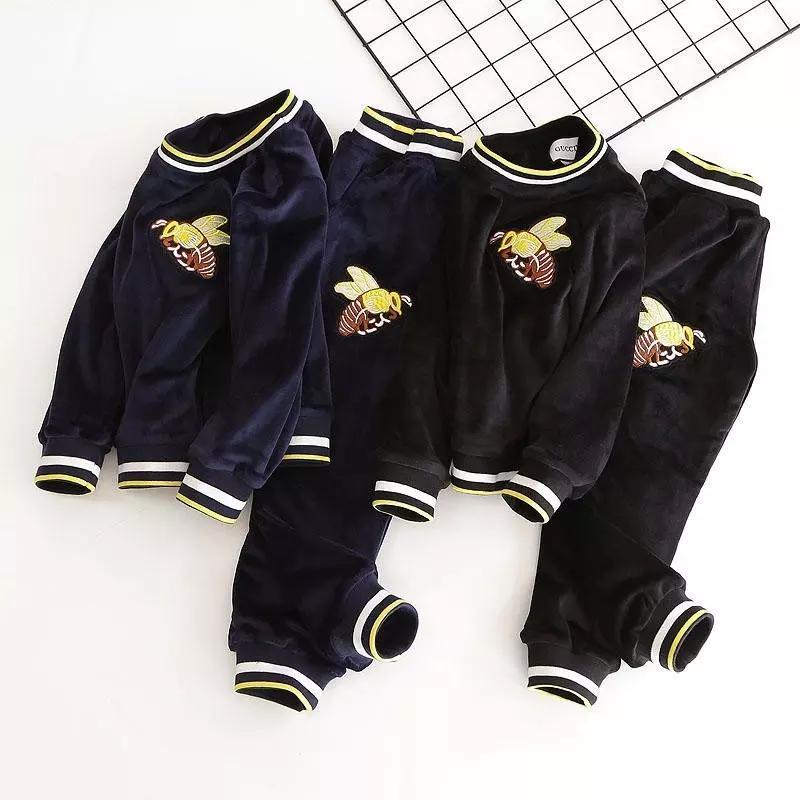 bb749a63981df Acheter Enfants Costume Hiver Nouveau Modèle Coréen Augmenter Vers Le Bas  Fille Twinset Dans Volonté Enfant Mouvement Loisirs Temps Vêtement Pour  Enfants De ...