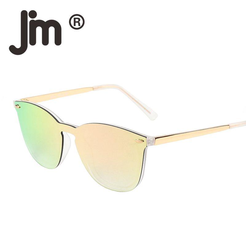 3fcac7011 Vintage Rimless Square One Piece Mirrored Reflective Flat Lens Sunglasses  Women Men Retro Classic Frameless Sun Glasses Sunglasses Online Sunglasses  Brands ...