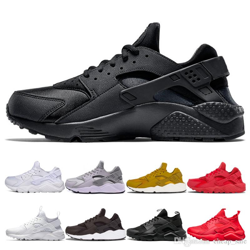 b17f5bd40a1f 2019 Hot Huarache 1.0 4.0 Mens Running Shoes Fashion Women Triple Black  White Gold Grey Red Huaraches Mens Trainers Women Sports Sneakers Running  Spikes ...