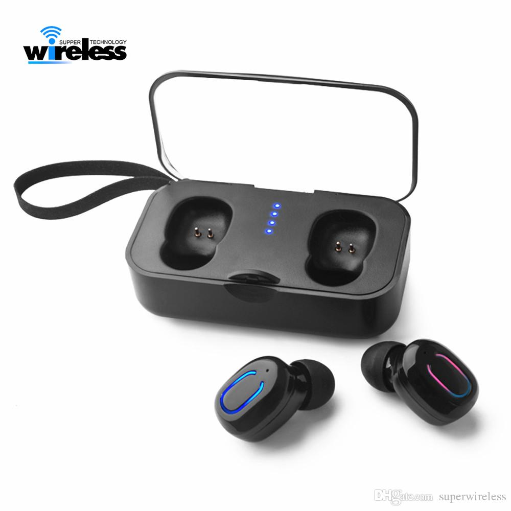 e990a97225d431 Ti8s Wireless Bluetooth Headphones Headset In Ear Handsfree Bluetooth 5.0 Wireless  Earbuds With Mic Charging Box Wired Cell Phone Headsets Wireless Cell ...