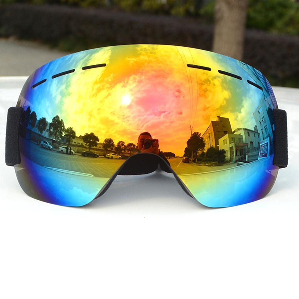 ddeab373b36 Brand Ski Goggles Double Layers UV400 Anti-fog Big Ski Mask Glasses ...