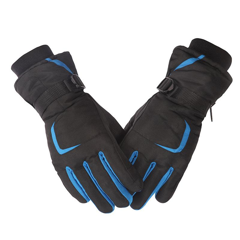 89b3bac5e Men Women Ski Gloves Winter Thick Warm Skiing Mittens Outdoor Touch ...