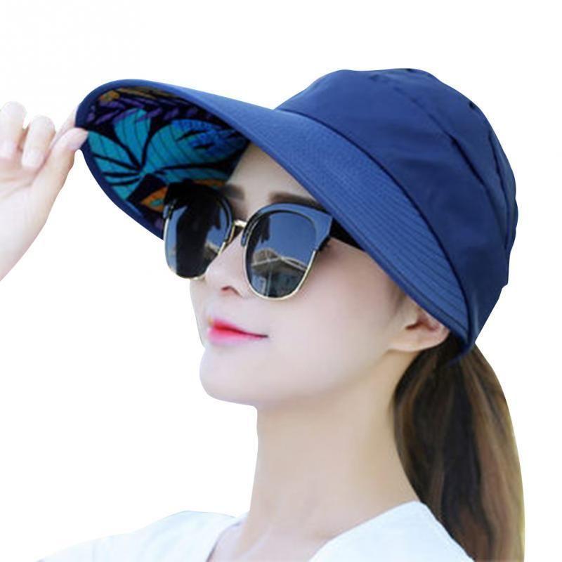 c284675c Summer Sun Protection Folding Sun Hat For Women Wide Brim UV Protection Sun  Hat Outdoor Beach Packable Visor Cap C18122501 Floppy Hat Kangol Hats From  ...
