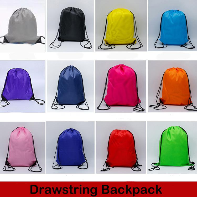 bcac937388 2019 New Kids  Boys Girls Clothes Shoes Bag 210D Polyester Cloth Drawstring  Bags School Sport Gym PE Dance Backpacks Folding Storage Bag M34F From ...