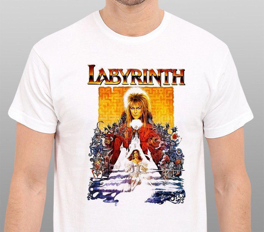 LABYRINTH Vintage 80 s movie Phantasy David Bowie T-Shirt harajuku Summer  2018 tshirt