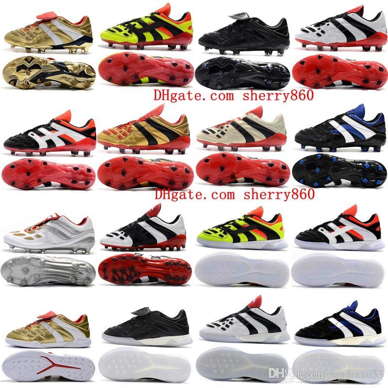2018 mens soccer cleats Predator Accelerator Electricity FG leather soccer shoes PREDATOR ACCELERATOR TR Crampons de football boots Cheap