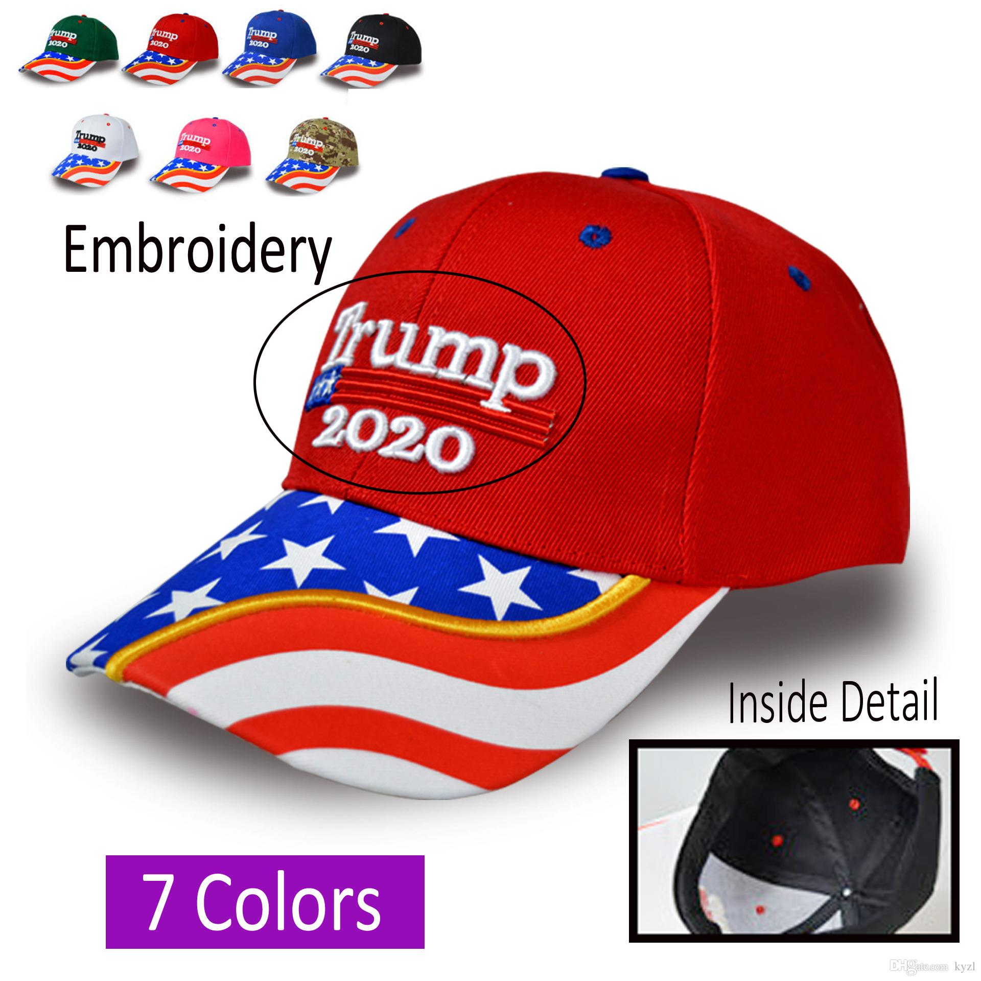 Nuovo cappello da baseball Donald Trump mimetico Keep America Great 2020 President Election Trump Hat Travel Beach Sun Cap Cap