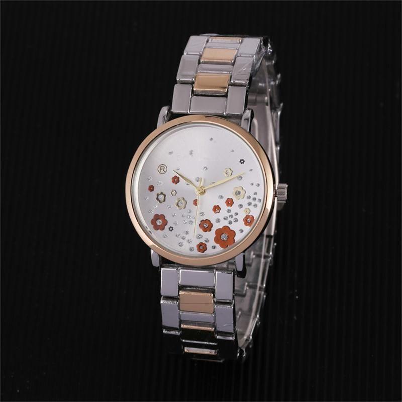 04afa8725a7 Compre Reloj Aaa Pulseira De Luxo Azul Relógio De Pulso Das Senhoras  Vestido De Strass Flor Cheia De Diamantes Relógio De Marca Das Mulheres  Relógios De ...