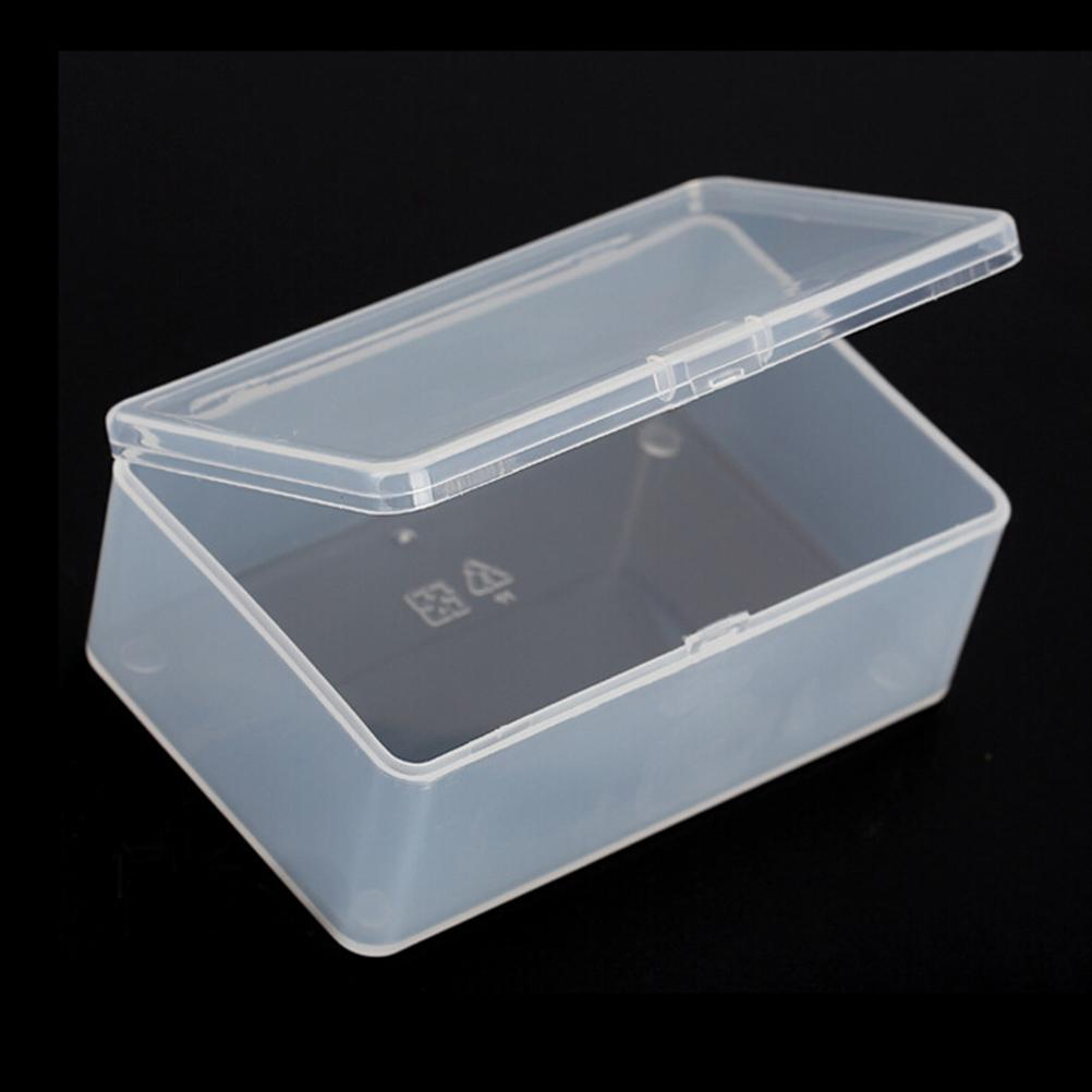 1pc Gift Wedding Party Favor Small Clear Plastic Transparent With Lid Storage Box Coin Collection Container Case 10 6 3 6cm