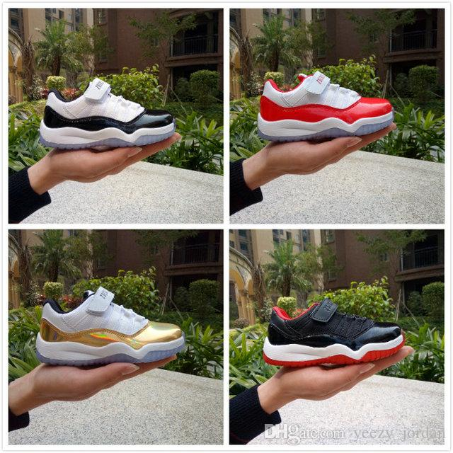 a423290f2a0c HOT Model Kids 11 Shoes Children Velcro Basketball Shoes Boy Girl 11s Sports  Shoes Toddlers Training Sneakers High Quality Sport Shoes For Girls Tennis  ...