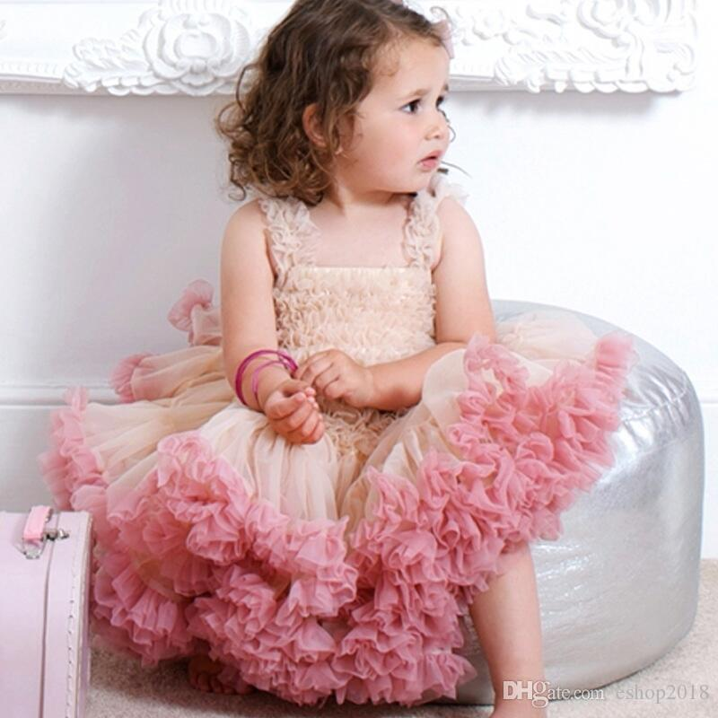89bf4a0f276c4 2019 Baby Birthday Party Lace Dresses Girls Tulle Tutu Princess Dress Angel  Baby Gauze Tiered Cake Dress Kids Photo Shoot Dress From Eshop2018, ...