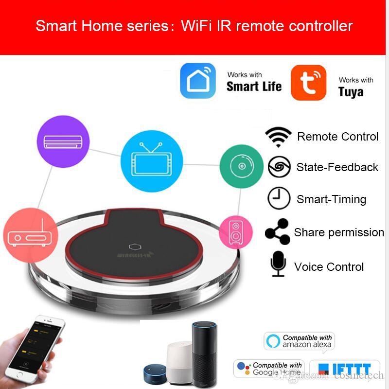 Tuya 2 4Ghz WiFi-IR Remote control hub,Universal infrared remote controller  For Air Conditioner TV,work with Alexa Google Home IFTTT