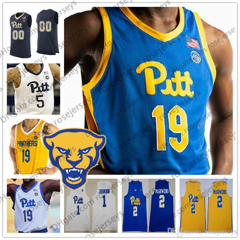 sneakers for cheap 3f5f1 bf419 Custom Pittsburgh Panthers PITT Navy Blue White Yellow Royal Any Name  Number 1 Xavier Johnson 2 Trey McGowens 3 Malik Ellison 2019 Jerseys