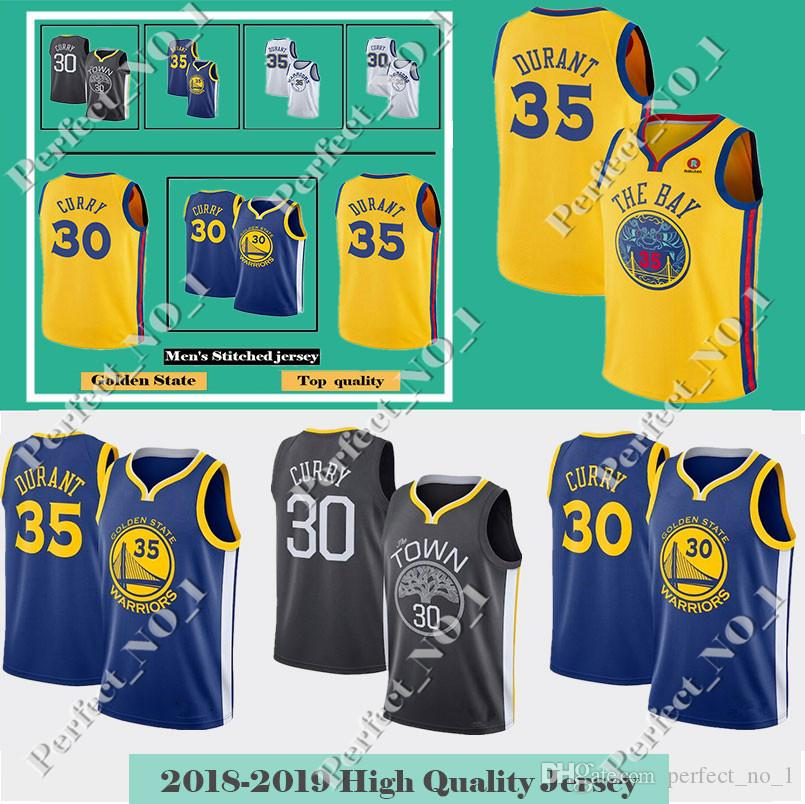700027d83 ... new arrivals 2019 mens golden state 30 stephen curry 35 kevin durant warriors  jersey 11 klay