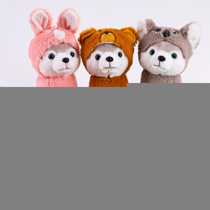Presente Corgi de aniversário das crianças dos desenhos animados Husky Plush Dog Stuffed Big Toys 25CM Huskie cão boneca linda animal Plush Pillow ZZA1618