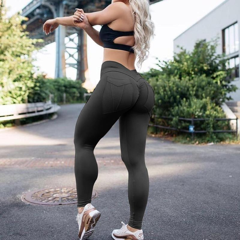 060e7d288400 2019 2019 Women Hot Yoga Pants Black Sport Leggings Push Up Tights ...