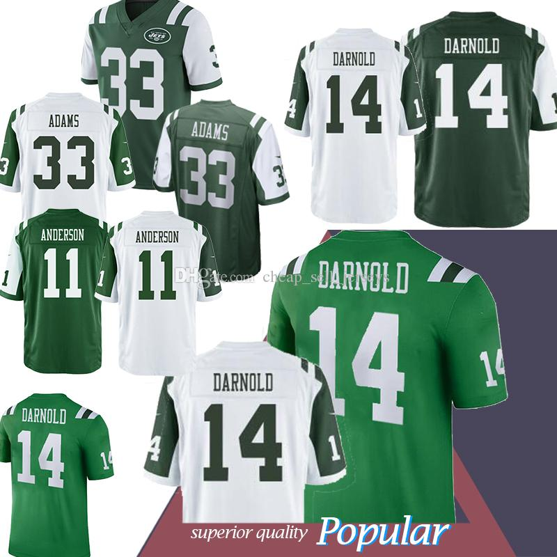 pretty nice b7cb7 bac71 14 Sam Darnold Jersey Jets 33 Adams 12 Joe Namath 11 Robby Anderson popular  2019
