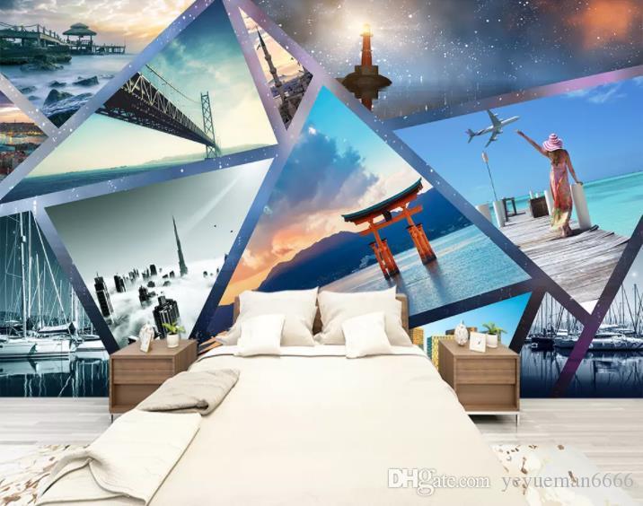 Poster Murali Per Camere Da Letto : Acquista personalizzato papel de pared wallpaper d semplice sogno