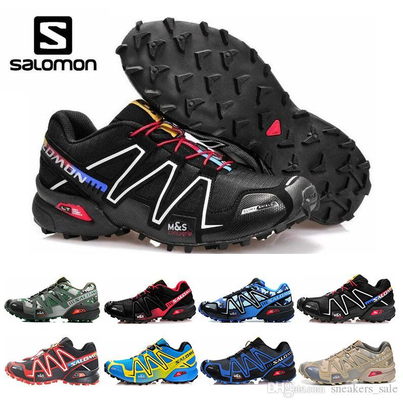 65259043f2 2019 Salomon Speed Cross 3 CS Zapatillas De Running Para Mujer Para Hombre  III Zapatos De Diseño Para Exteriores Negro Verde Rojo Entrenador Deportivo  ...