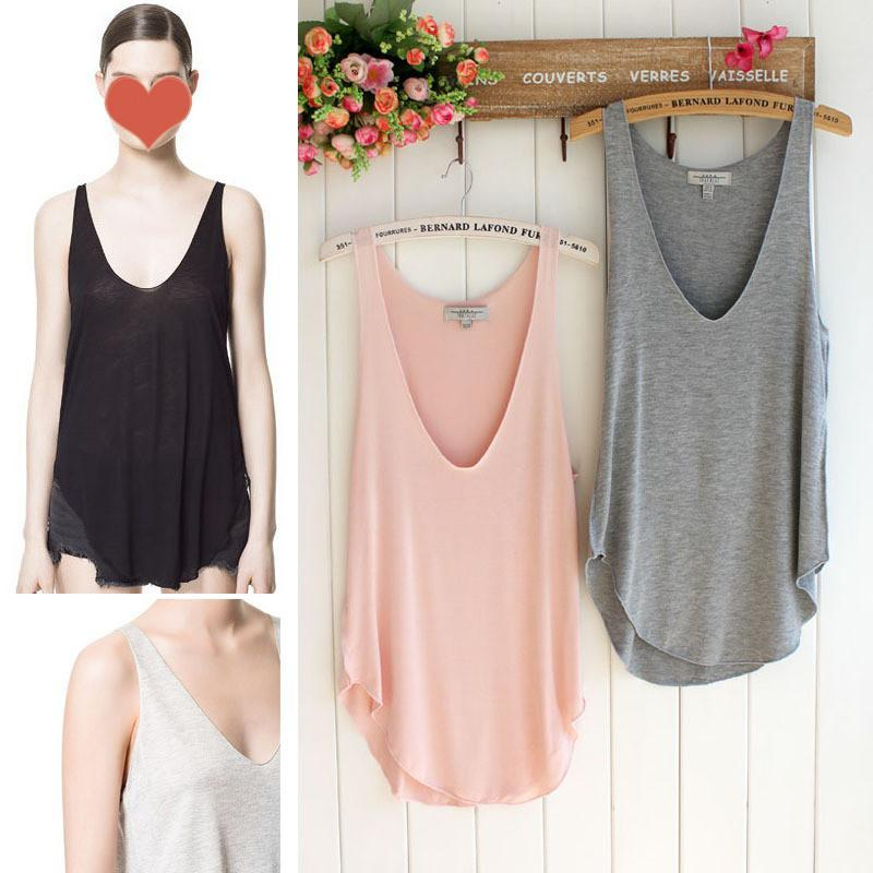 c3bb21228c55a4 2019 Lady Girl Summer Loose Comfortable Casual V Neck Camisole Tank Tops  Vest Shirt A2745 A2749 From Henlai