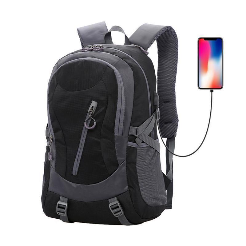 6b381d83dc3d Travel Backpack Laptop Computer Bag Usb Charging Port Headphones Hole For  Men Women Hiking Camping Outdoor Sport Bags Backpacks