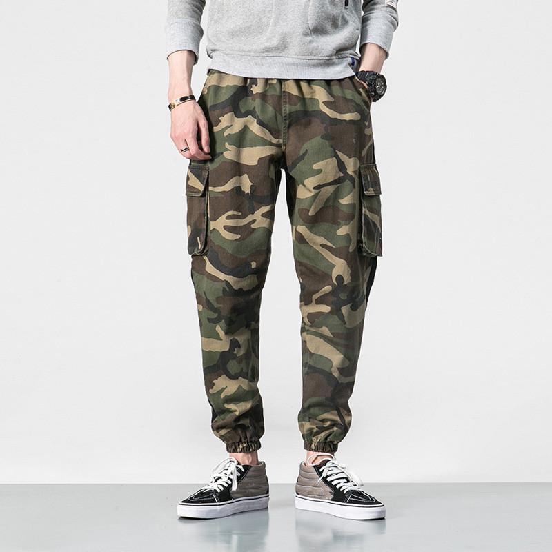 31d896e7d5f MORUANCLE Men S Hip Hop Cargo Joggers With Big Pockets Fashion Camouflage  Tactical Pants Trousers Plus Size M 5XL Elastic Waist UK 2019 From  Jujubery