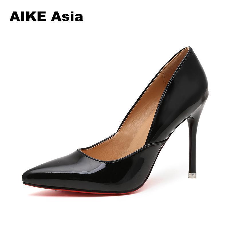 175749205fe Compre Bombas Para Mujeres, Zapatos De Tacón Alto, 10 Cm, Estilete Negro, Punta  Estrecha, Zapatos De Mujer, Zapatos De Fiesta Sexy, Tacones Desnudos Para  ...