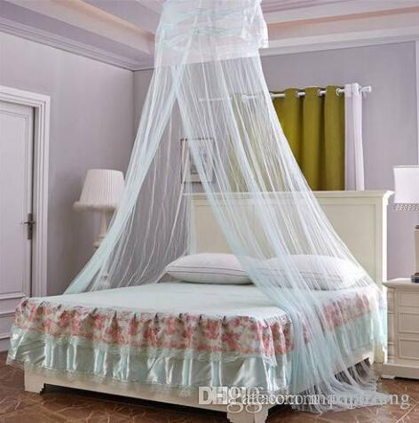 HOT Wholesales 2019 New style Free shipping Round Lace Curtain Dome Bed Canopy Netting Princess Mosquito Net For Girls