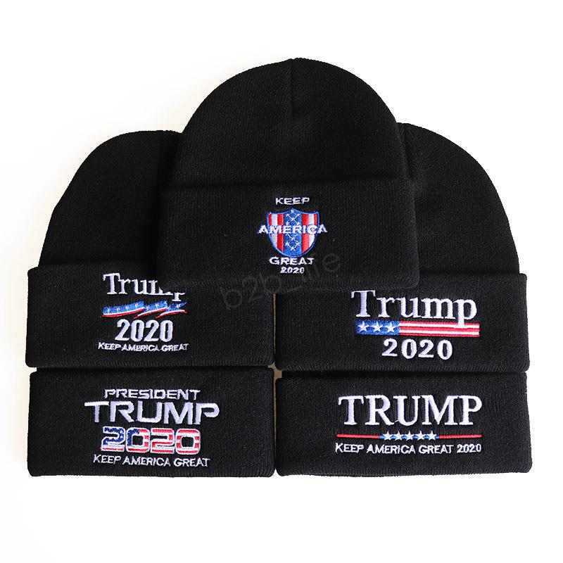 Trump 2020 Mützen Wolle Strickmütze Frauen Männer USA Flagge Brief Keep America Great Beanie Strickmütze Winter Stickmütze 20styles LJJA3073