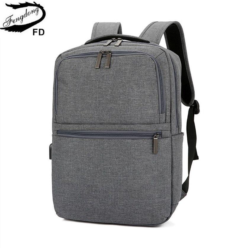 FengDong Men Business Travel Smart Backpack Usb Bag For Laptop Schoolbag  Backbag Male Bags School Backpack For Boy Dropshipping Toddler Backpacks  Mens ... 84ff92d703910