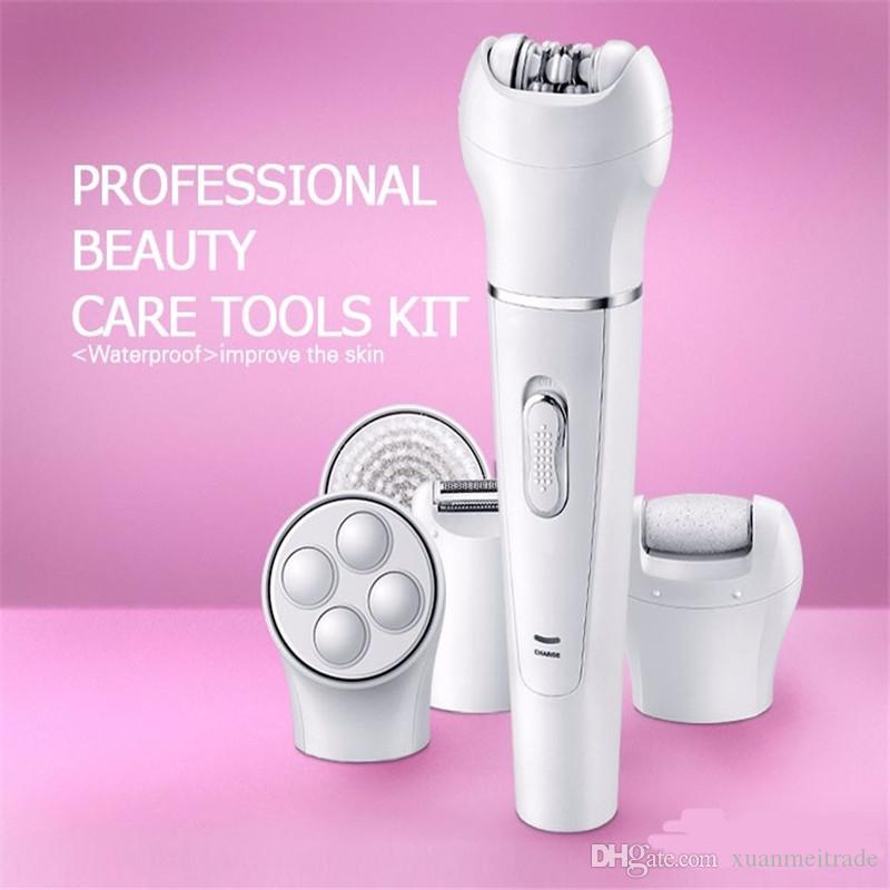 5 in 1 all in one women grooming kit electric lady epilator shaver bikini leg underarm haircut trimmer clipper body hair removal