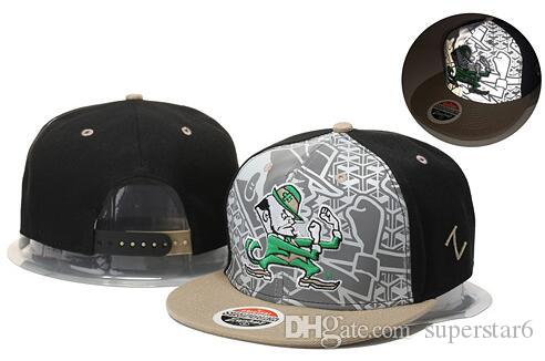 4ff06a8eaf NCAA Notre Dame Fighting Irish Caps 2019 New College Adjustable Hats All  University Snapback Gray Black Navy Blue Green Free shipping UND