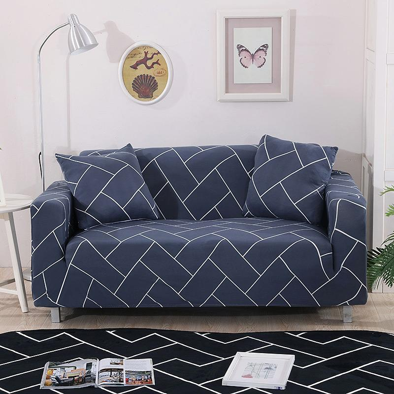 Modern Stripes Printing Sofa Cover Elastic Slip-resistant Removable Tight  Wrap Slipcovers Single/Two/Three/Four-seater 1PC
