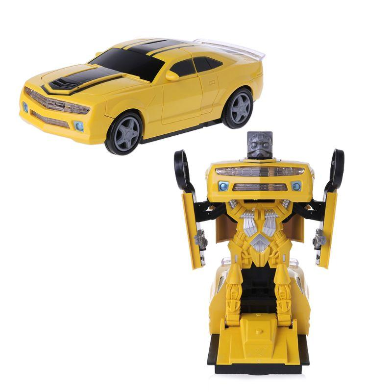 2 In 1 RC Car Sports Car Automatic Transformation Robots Models Deformation Fighting Toy for Kids Children's Birthday Gift