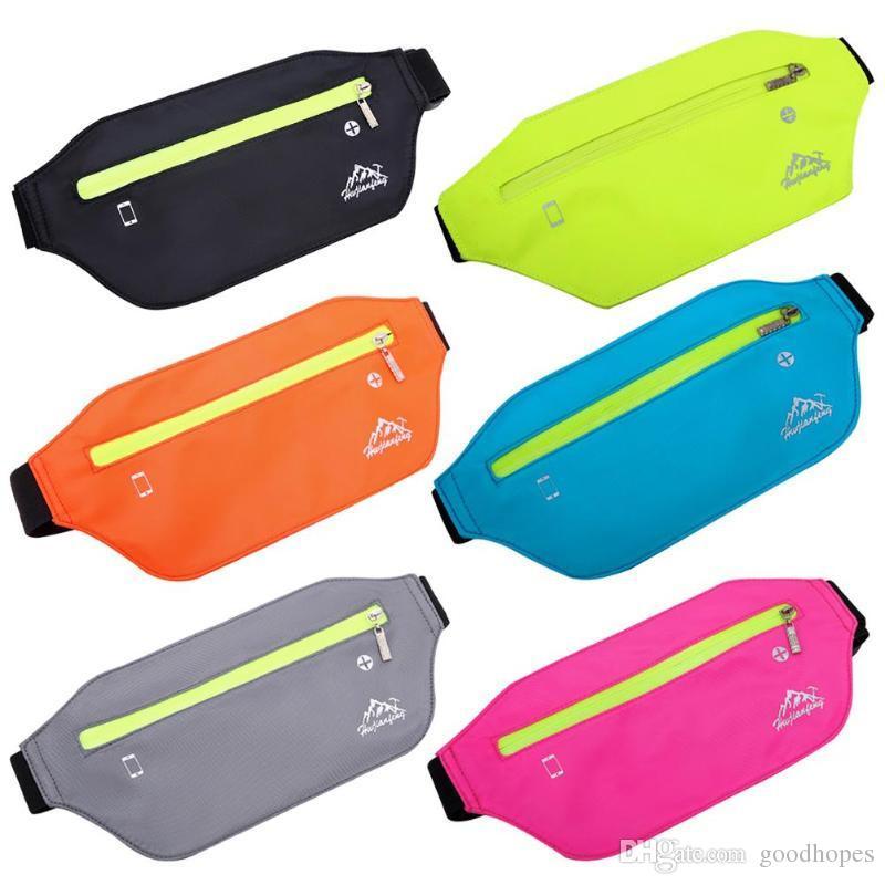 Relojes Y Joyas Men Women Running Waist Bag Cycling Hiking Fanny Pack Jogging Belt Gym Fitness Phone Bag With Headset Hole