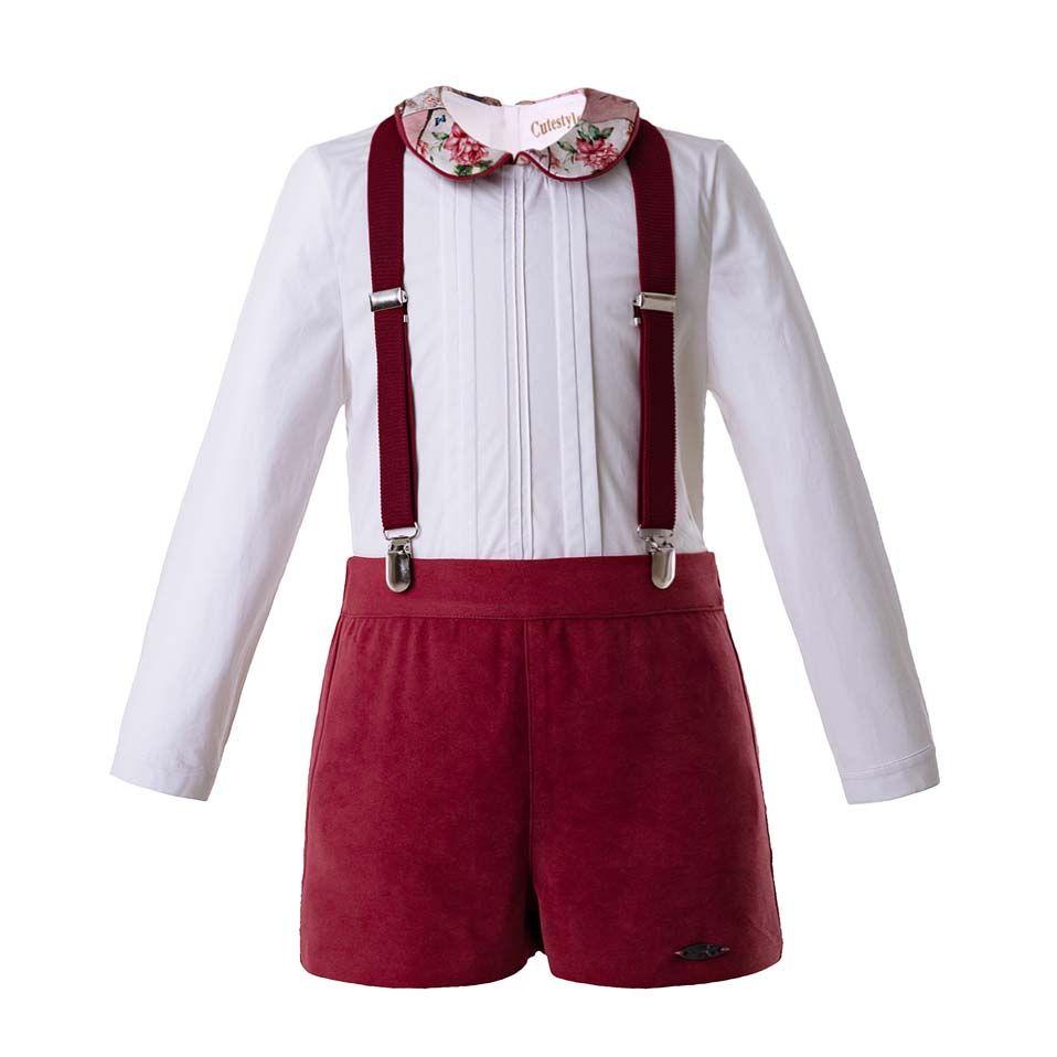 Compre Pettigirl Correa Ropa Para Niño Rojo Juegos Manga Larga Blanca  Camisas + Pantalones Rojos Ropa Para Niños Niños B DMCS106 B333 A  56.29  Del ... 27a78a2487df