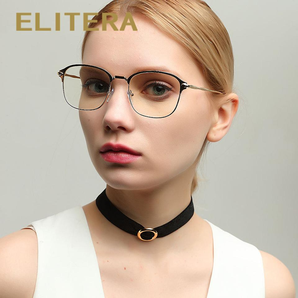 1688885ea94d 2019 ELITERA Square Eyeglasses Frames Mens Womens Clear Glasses With Transparent  Lens Spectacle Frames Optical Glasses Frame From Marquesechriss