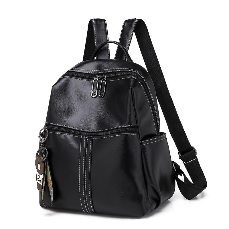 5aaa33cda96 New Hot European Style Women Doctor Backpack 2019 Ladies Famous Belt Bags  Women S PU Leather Rucksack Bags Backpacks For Girls Waterproof Backpack  From ...