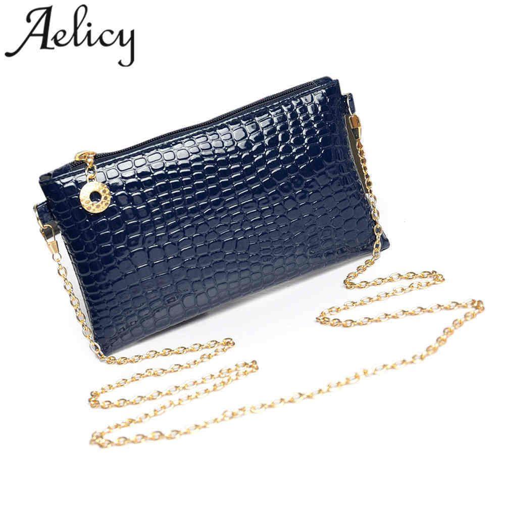 Cheap Aelicy Women Leather Crocodile Pattern Handbags Women Messenger Bags  Crossbody Female Small Shoulder Bag Clutch Brand Bolsas Evening Bags Leather  . aaafd1394c3c